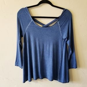 American Eagle Soft & Sexy Criss Cross Back Top